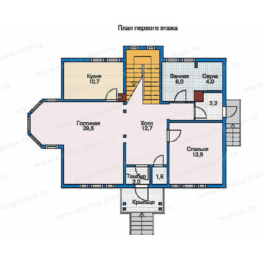 План 1-этажа проекта 70-04