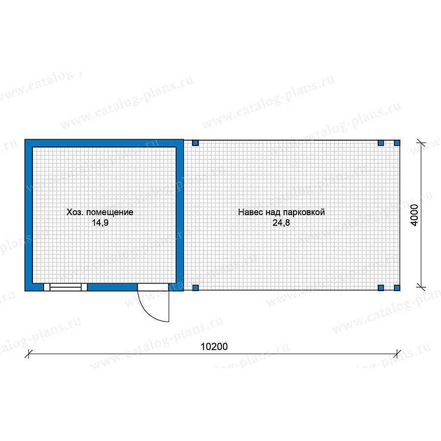 План 1-этажа проекта 70-34