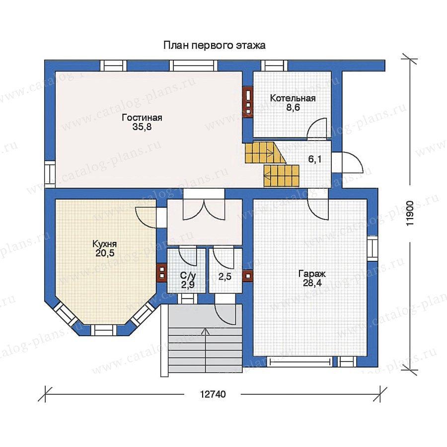 План 1-этажа проекта 80-05