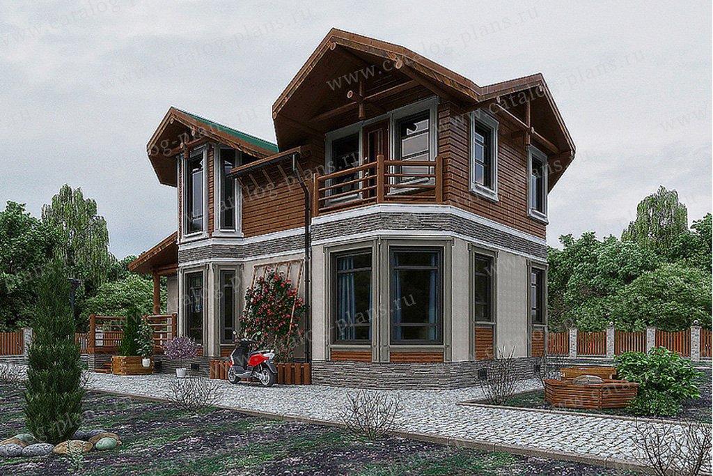 Проект жилой дом #70-52 материал - каркас, стиль скандинавский