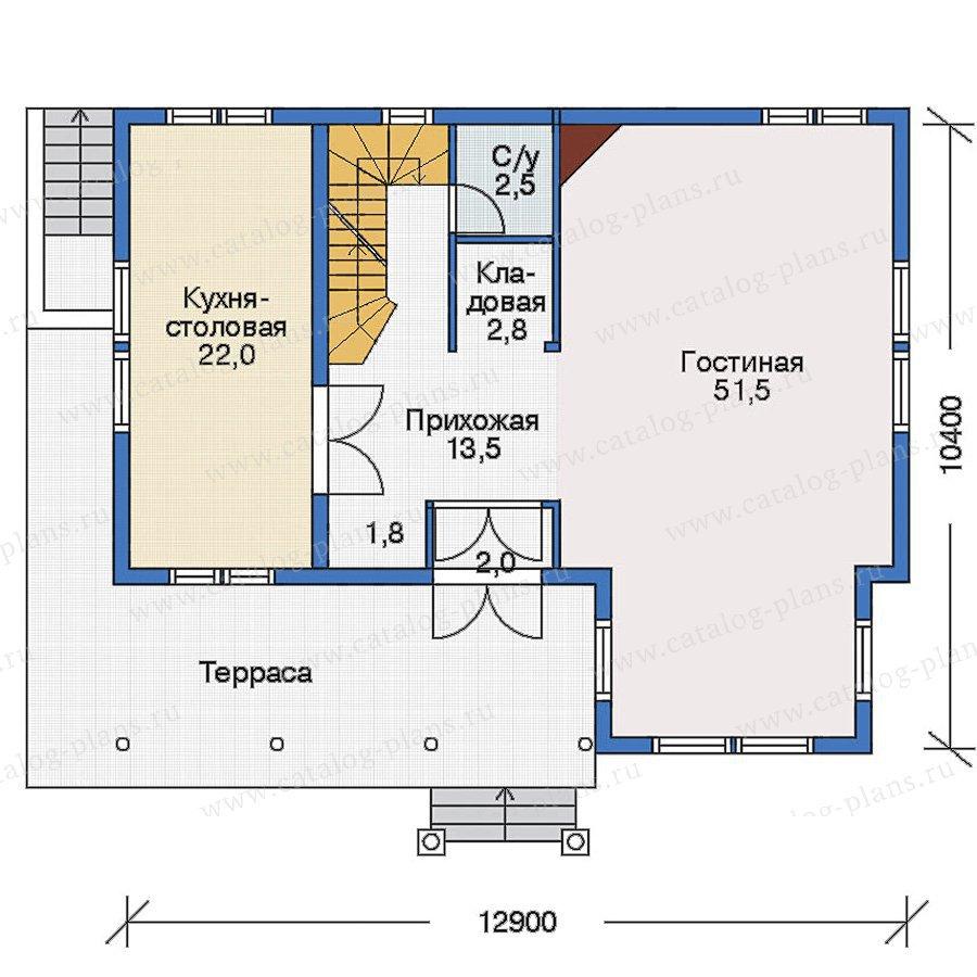 План 2-этажа проекта 70-20