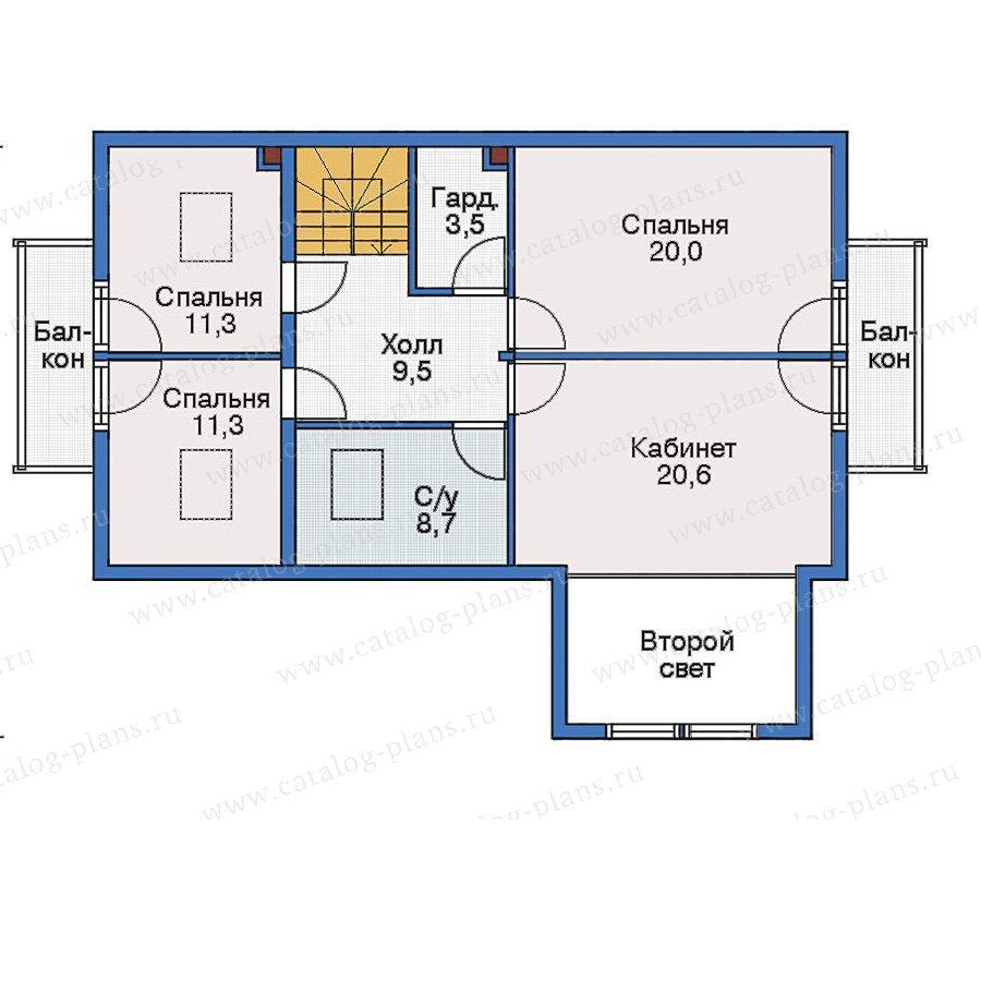 План 3-этажа проекта 70-20