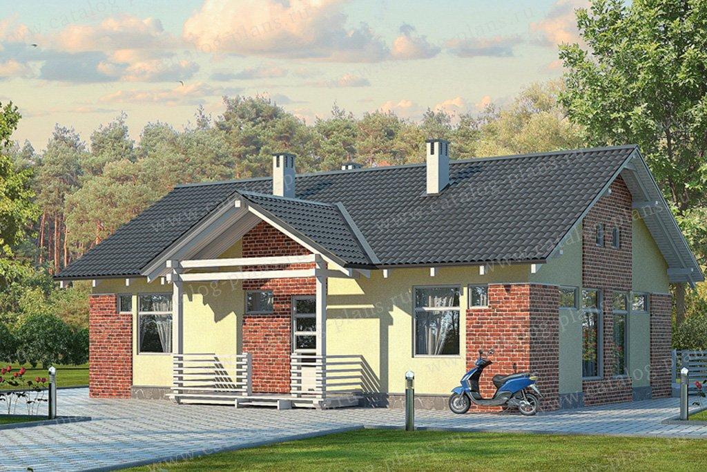 Проект жилой дом #70-31 материал - каркас, стиль современный