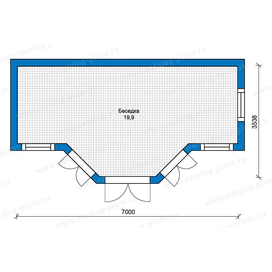 План 1-этажа проекта 70-41