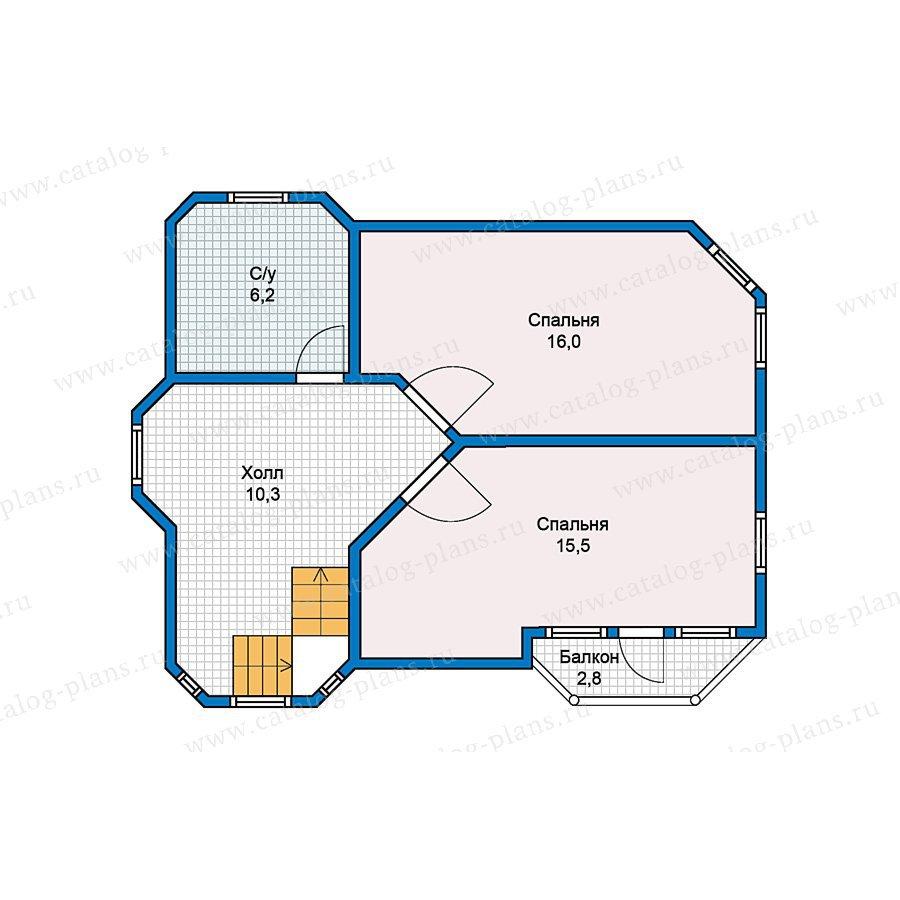 План 2-этажа проекта 70-52