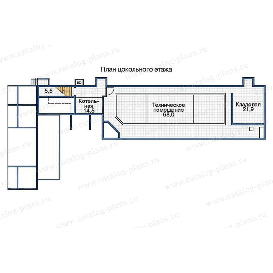 План 1-этажа проекта 70-17