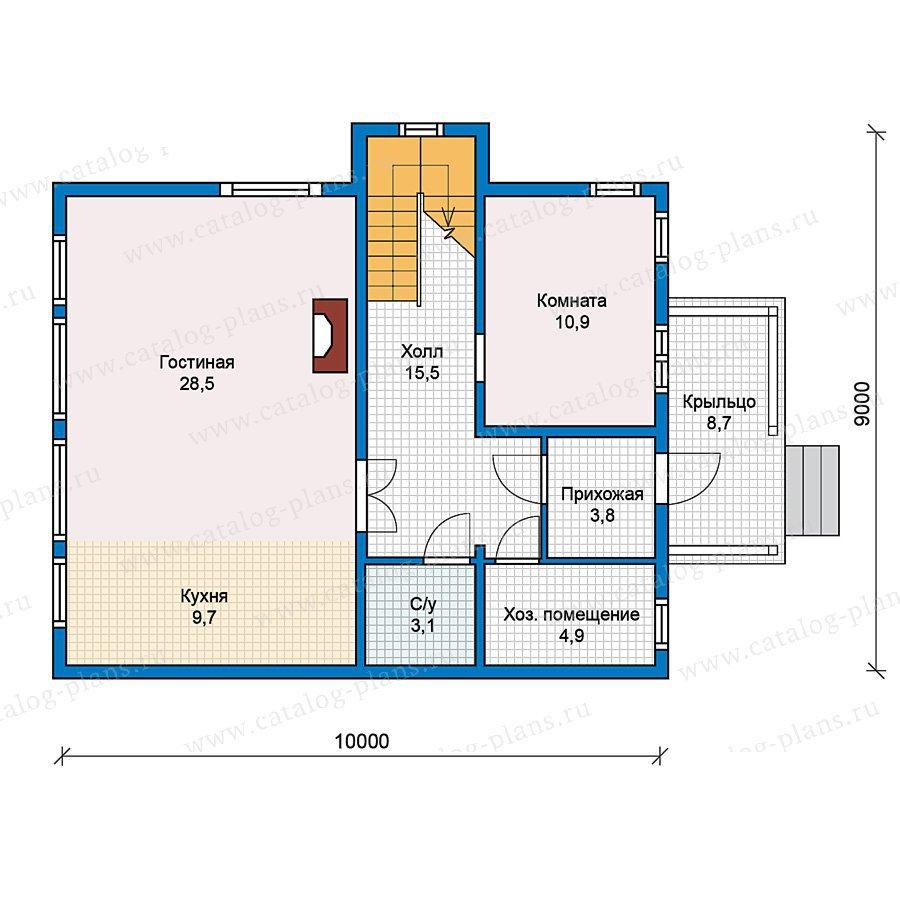 План 1-этажа проекта 70-44