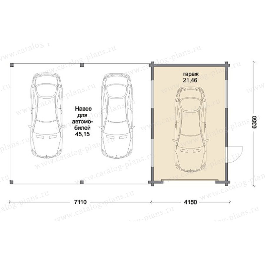 План 1-этажа проекта 70-48