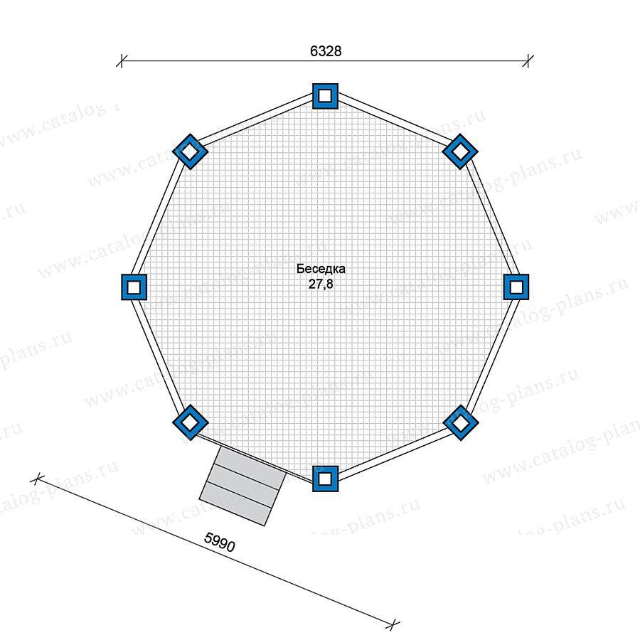 План 1-этажа проекта 70-43