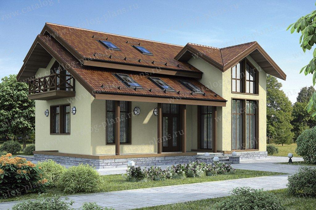 Проект жилой дом #70-20 материал - каркас, стиль скандинавский