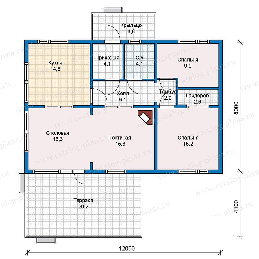 План 1-этажа проекта 70-31