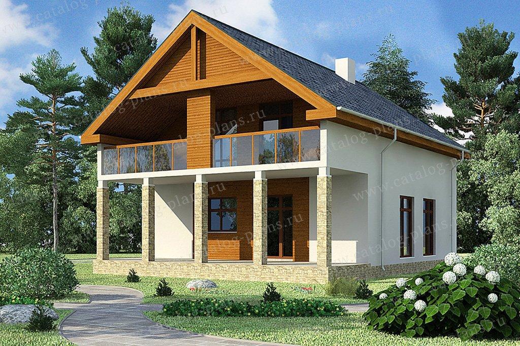 Проект жилой дом #70-26 материал - каркас, стиль современный