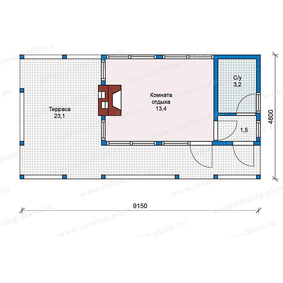 План 1-этажа проекта 70-40