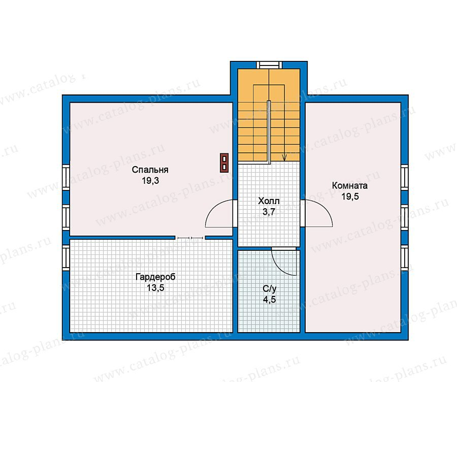 План 2-этажа проекта 70-45