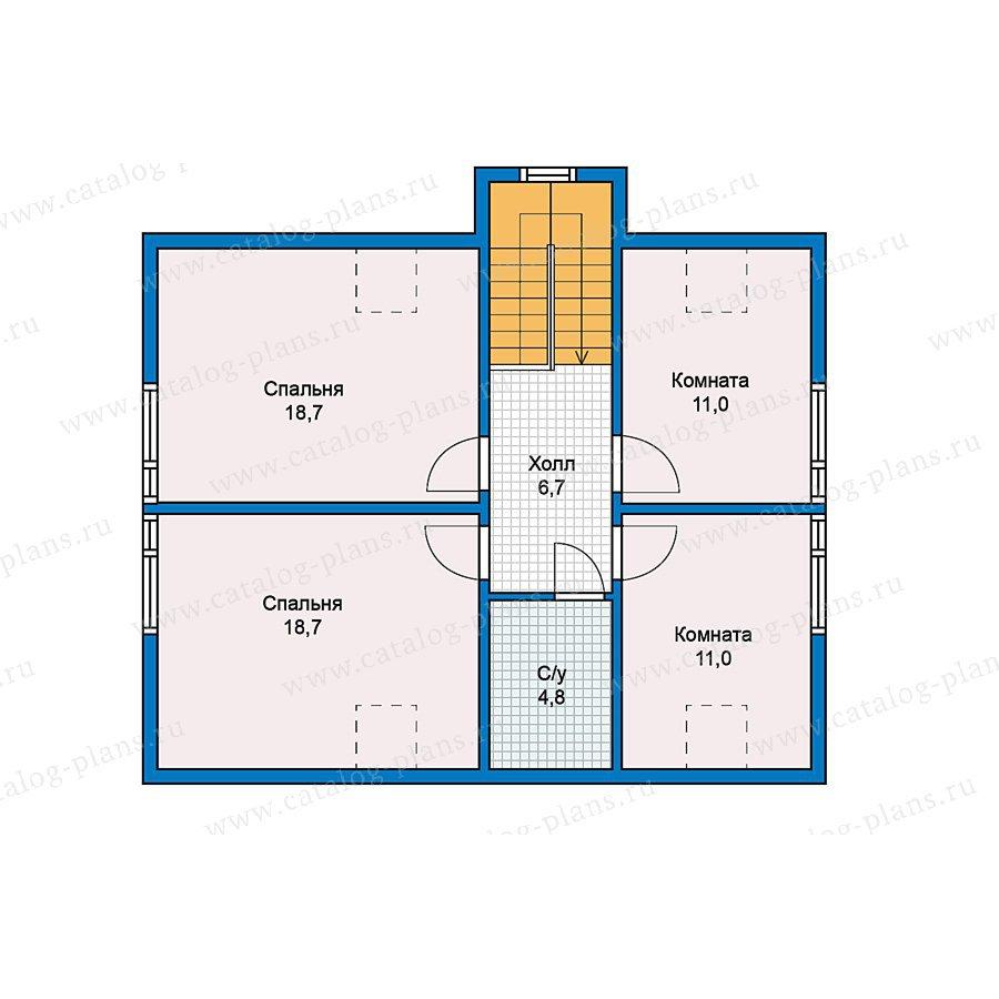 План 2-этажа проекта 70-44