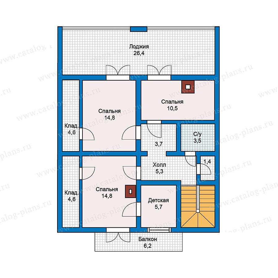 План 2-этажа проекта 70-26