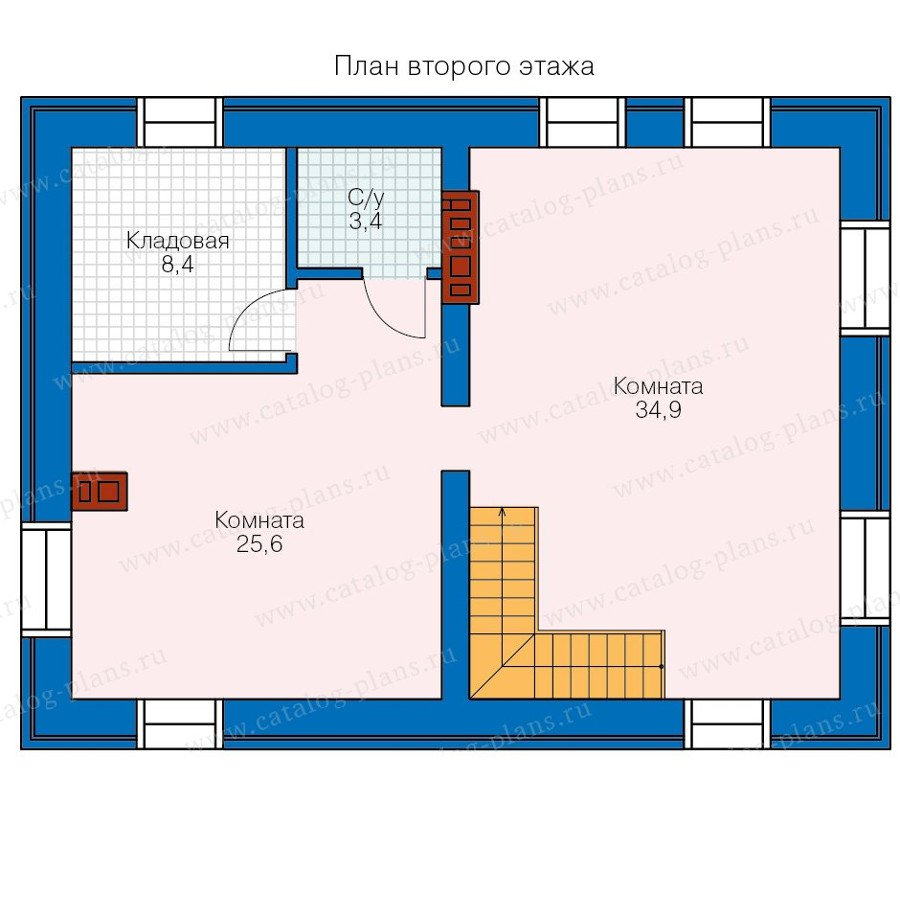 План 2-этажа проекта 90-24