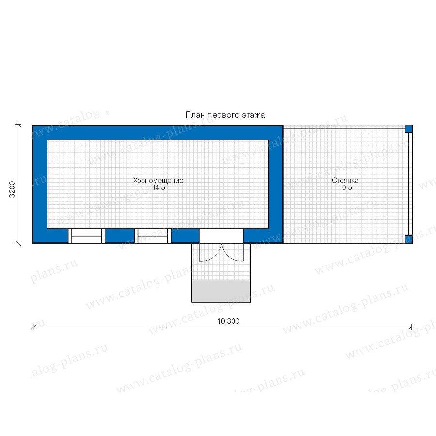 План 1-этажа проекта 90-36