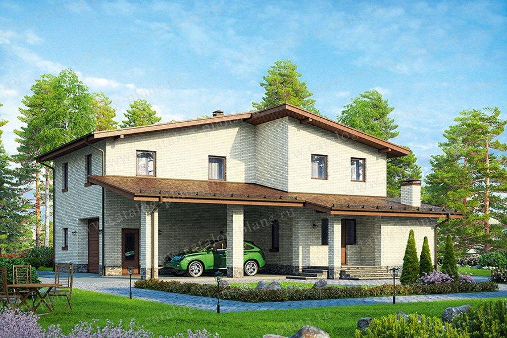 Проект жилой дом #90-23 материал - газобетон, стиль современный