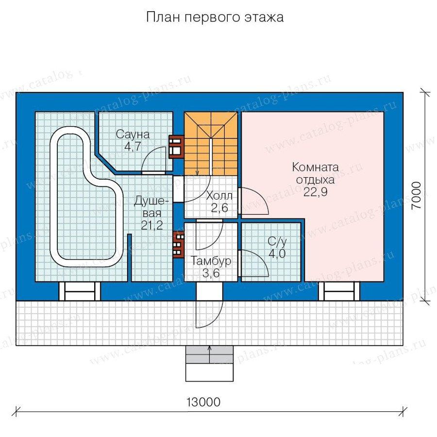 План 2-этажа проекта 90-39