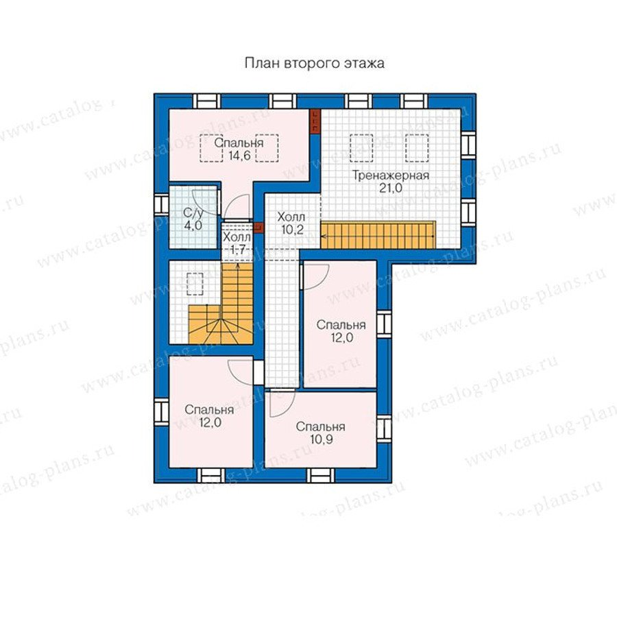 План 2-этажа проекта 90-23