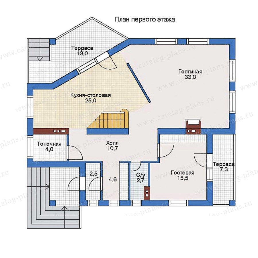 План 1-этажа проекта 60-01