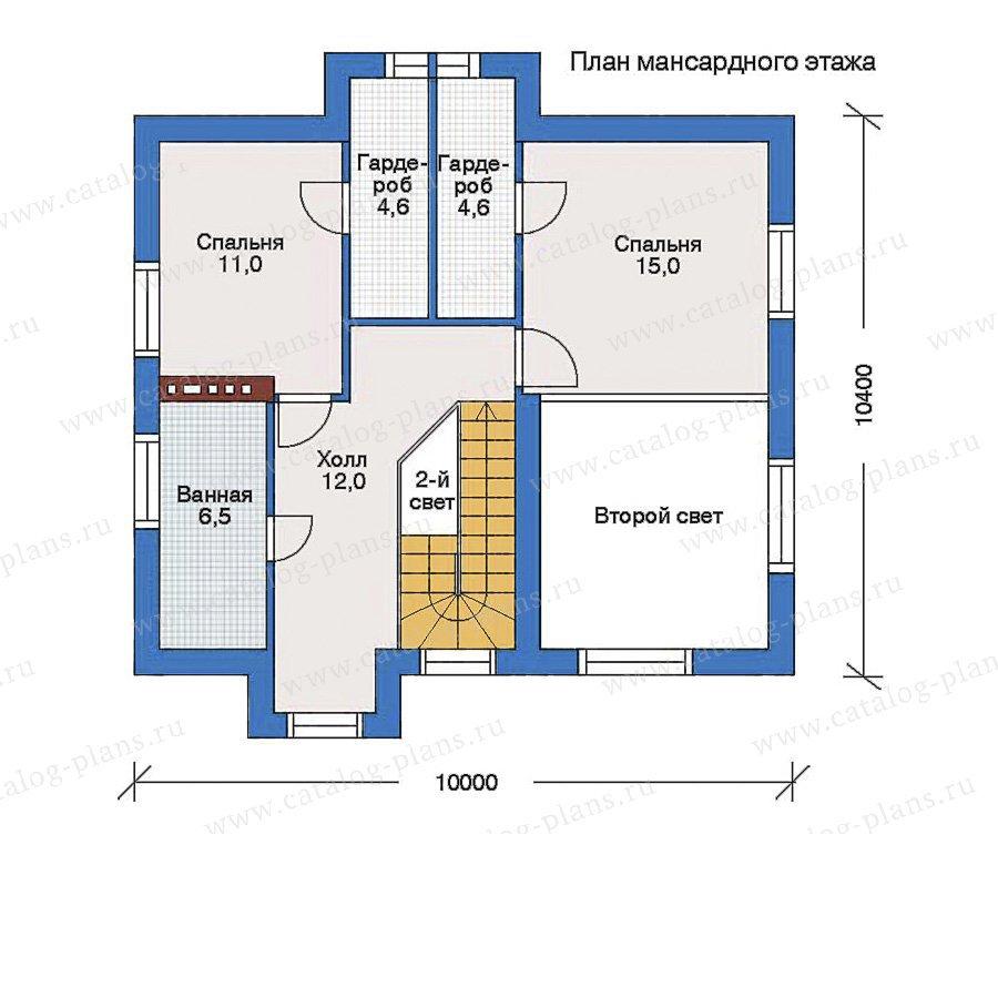 План 2-этажа проекта 60-00