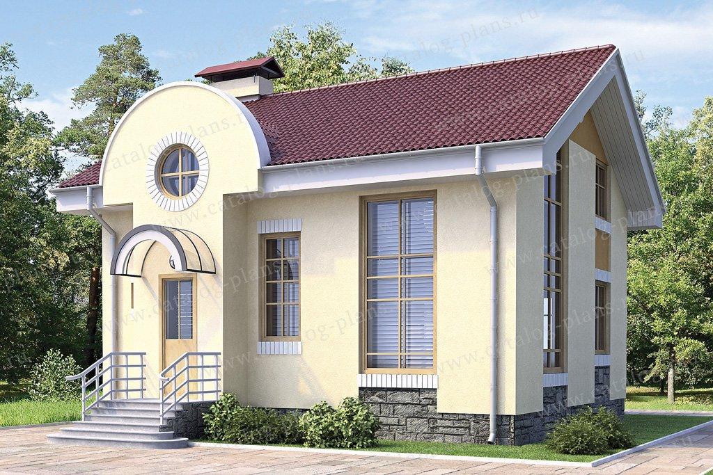 Проект жилой дом #60-00 материал - газобетон, стиль европейский