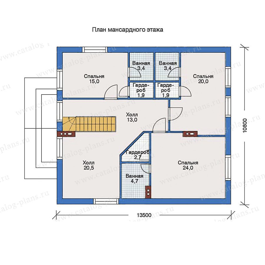 План 2-этажа проекта 60-01