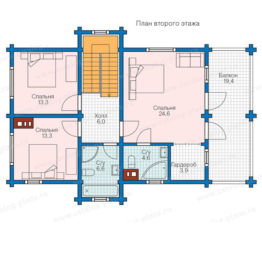 План 2-этажа проекта 80-15