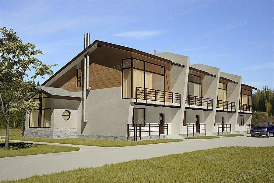 Проект жилой дом #70-10 материал - газобетон, стиль хай-тек