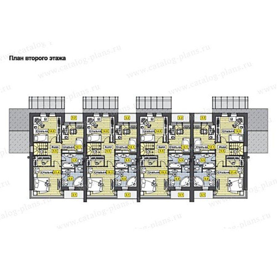 План 2-этажа проекта 70-10