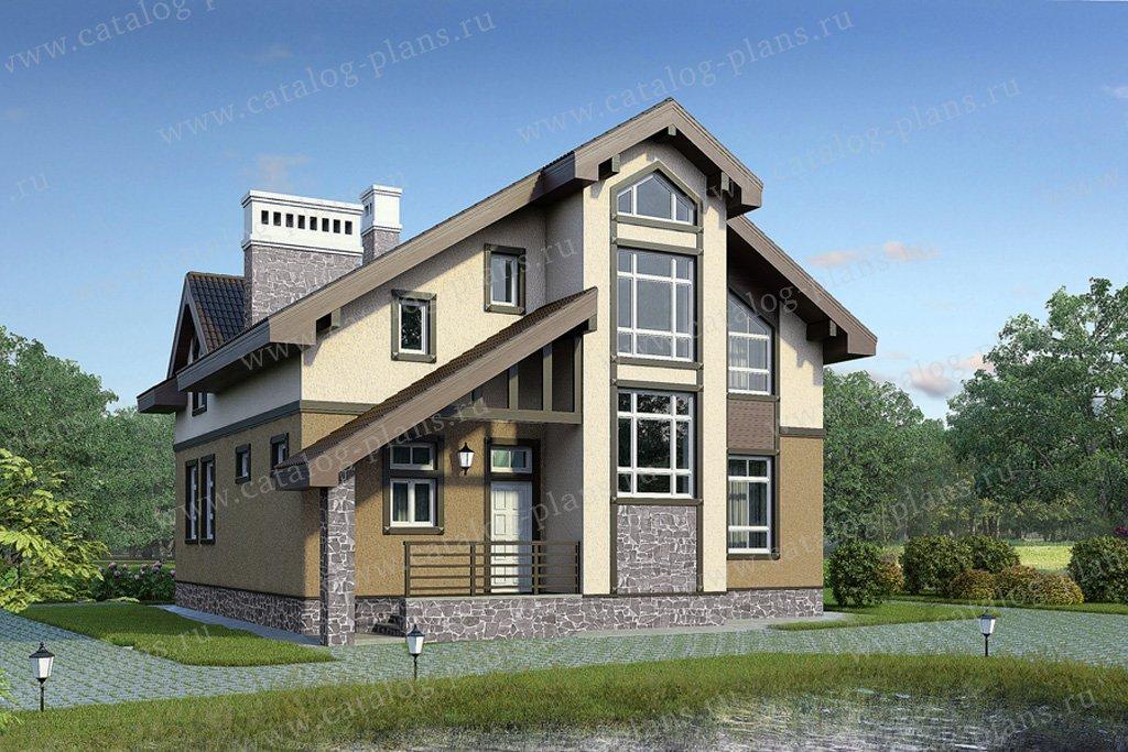 Проект жилой дом #59-03 материал - газобетон, стиль современный