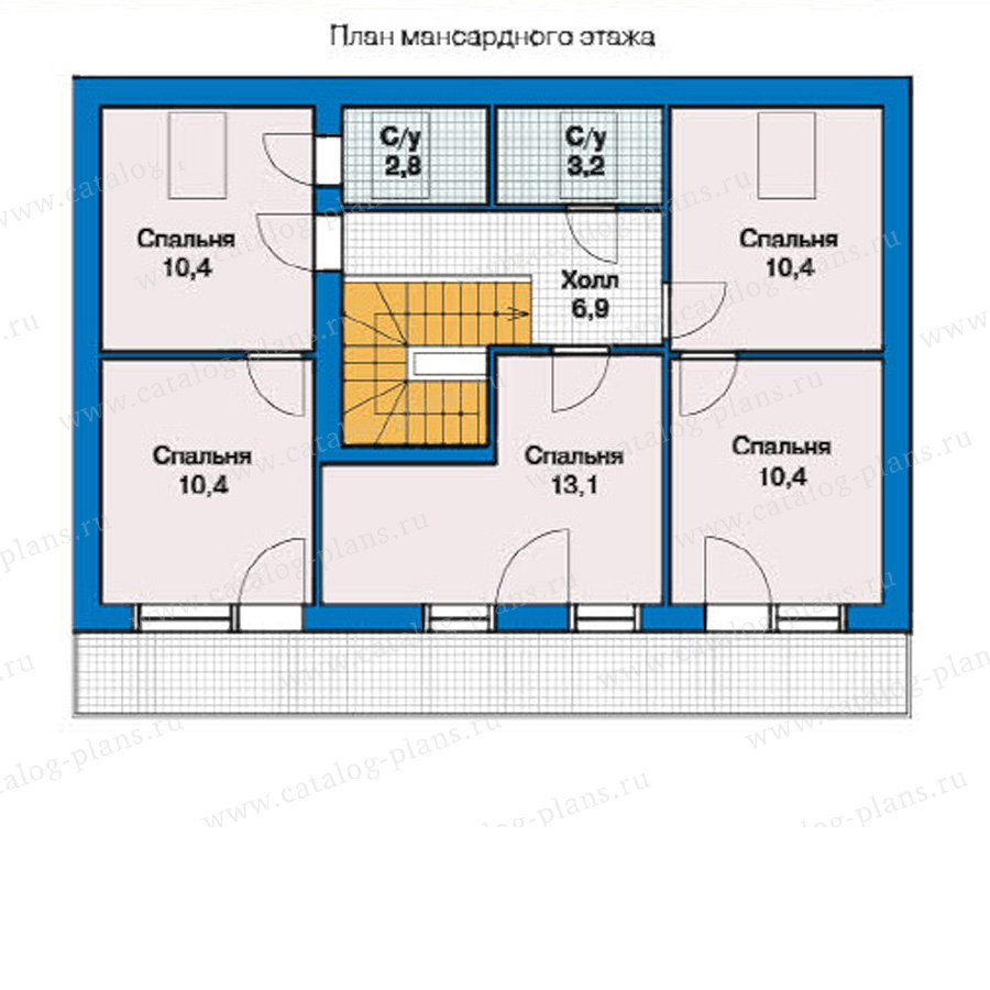 План 2-этажа проекта 59-09