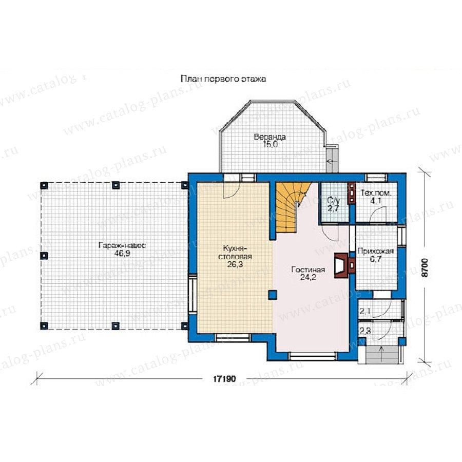 План 1-этажа проекта 59-06
