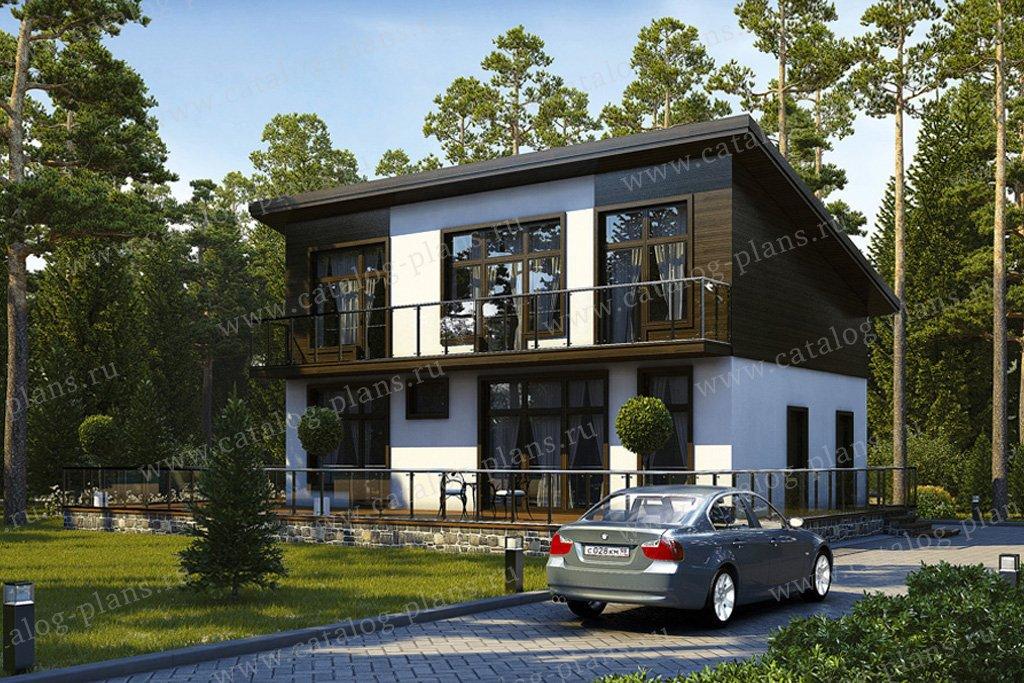 Проект жилой дом #59-09 материал - газобетон, стиль хай-тек