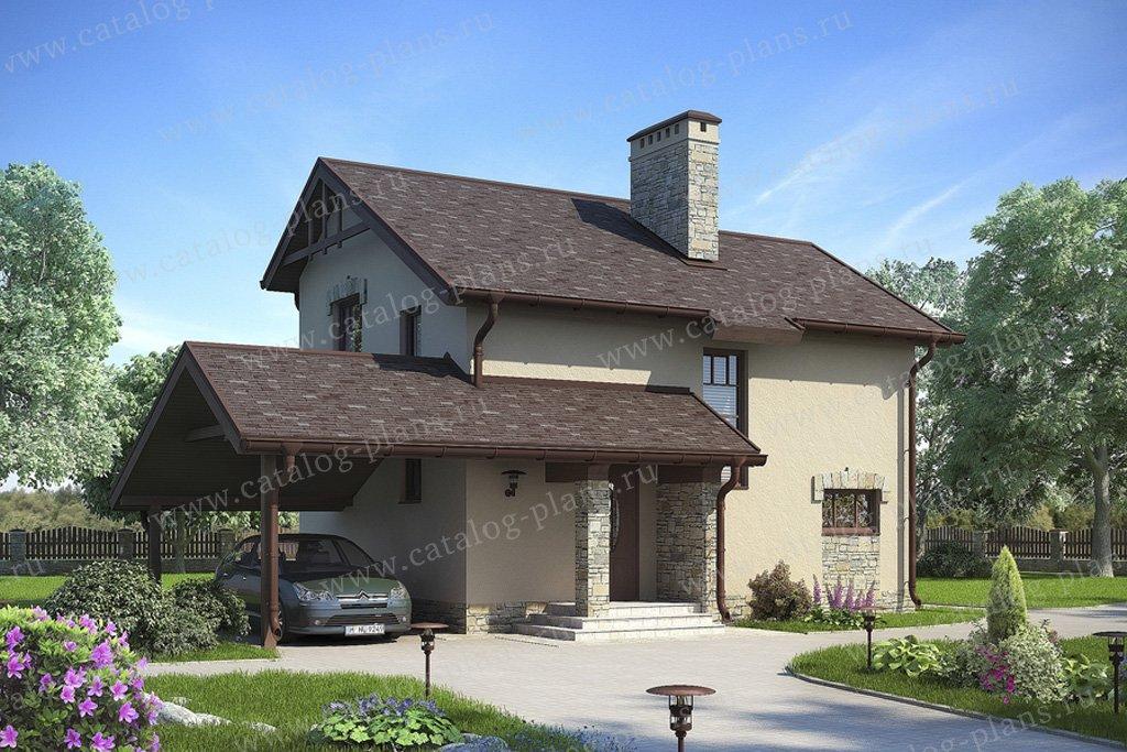 Проект жилой дом #59-20 материал - газобетон, стиль европейский