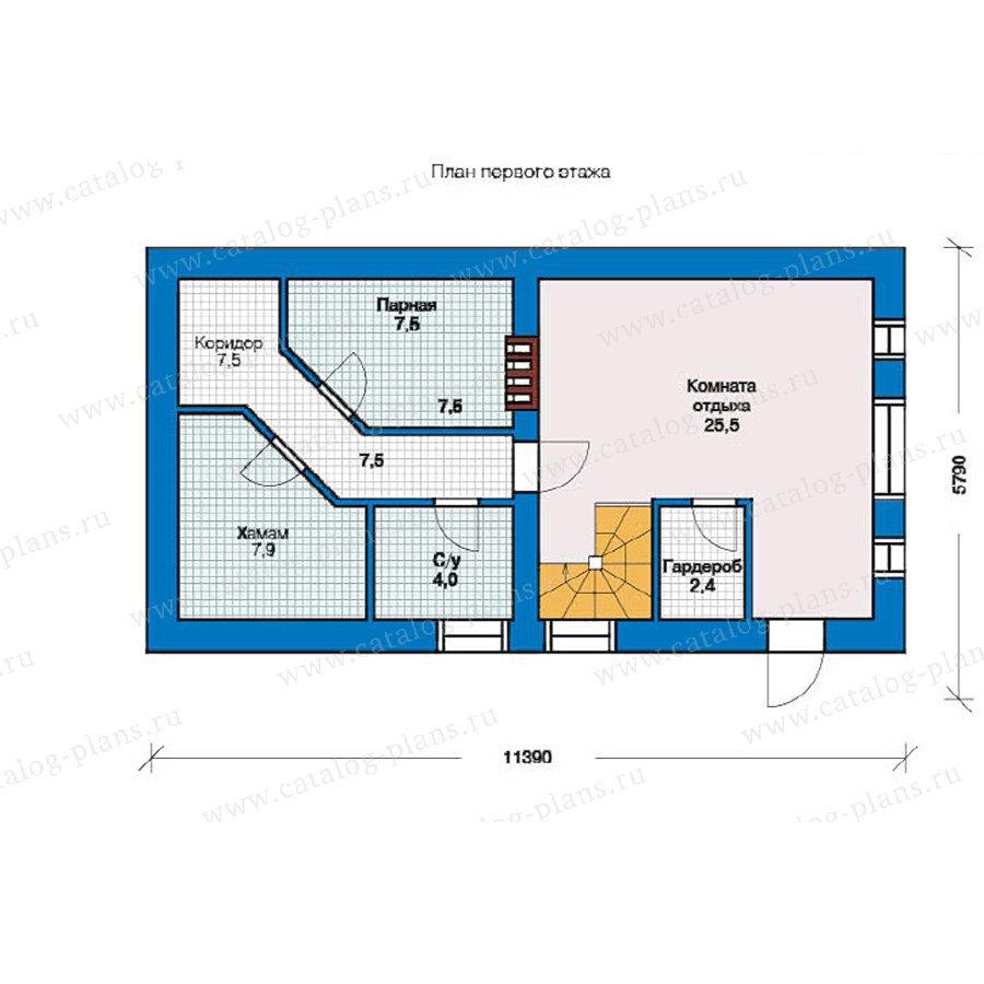 План 1-этажа проекта 59-01