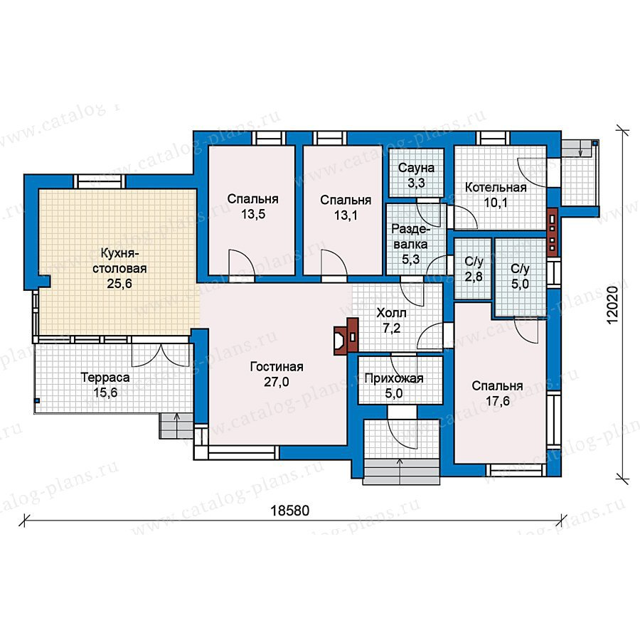 План 1-этажа проекта 59-22