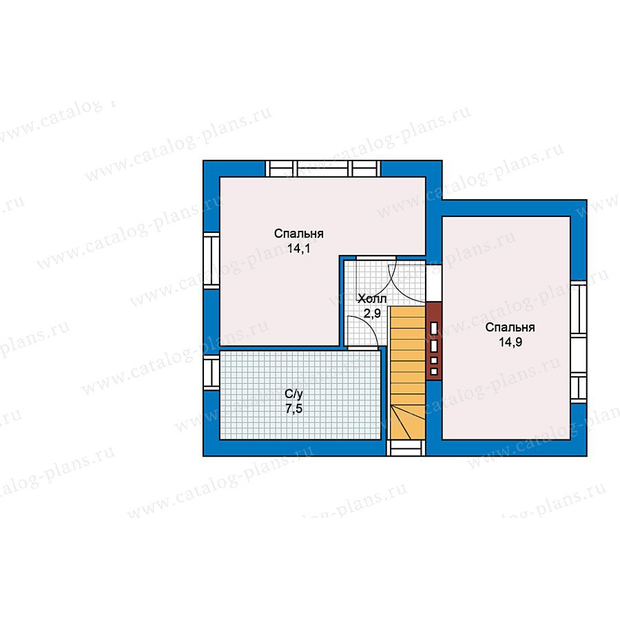 План 2-этажа проекта 59-20
