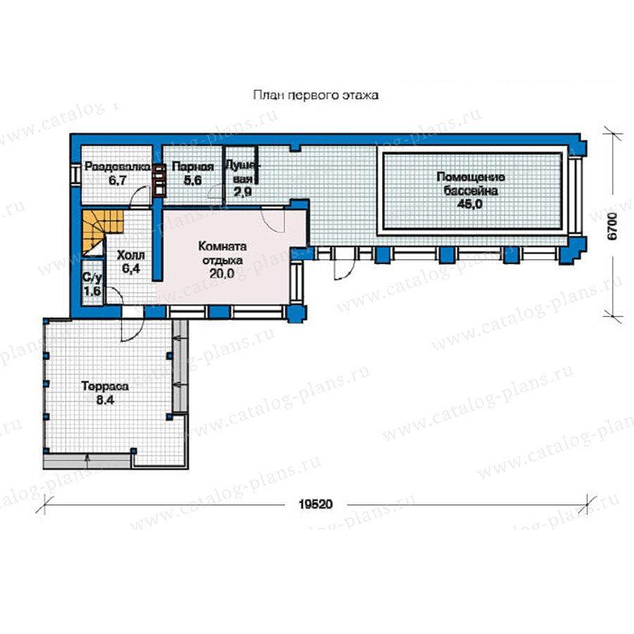 План 1-этажа проекта 59-02