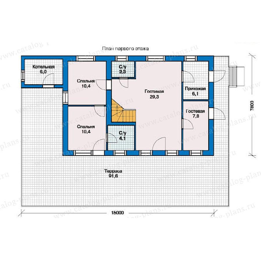 План 1-этажа проекта 59-09