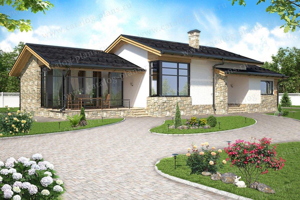 Проект жилой дом #59-22 материал - газобетон, стиль скандинавский