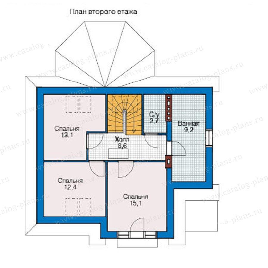 План 2-этажа проекта 59-06