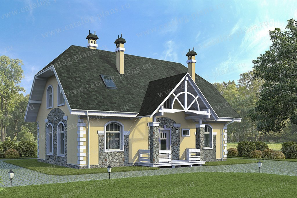 Проект жилой дом #59-30 материал - газобетон, стиль модерн
