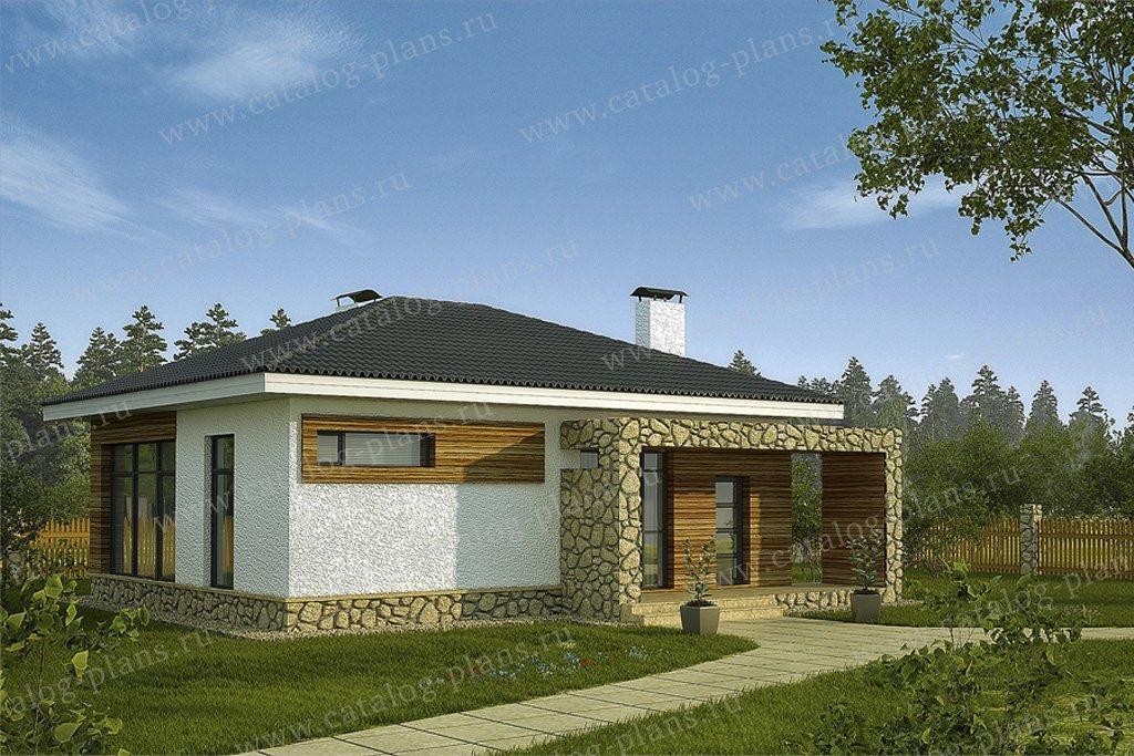 Проект жилой дом #59-33 материал - газобетон, стиль современный
