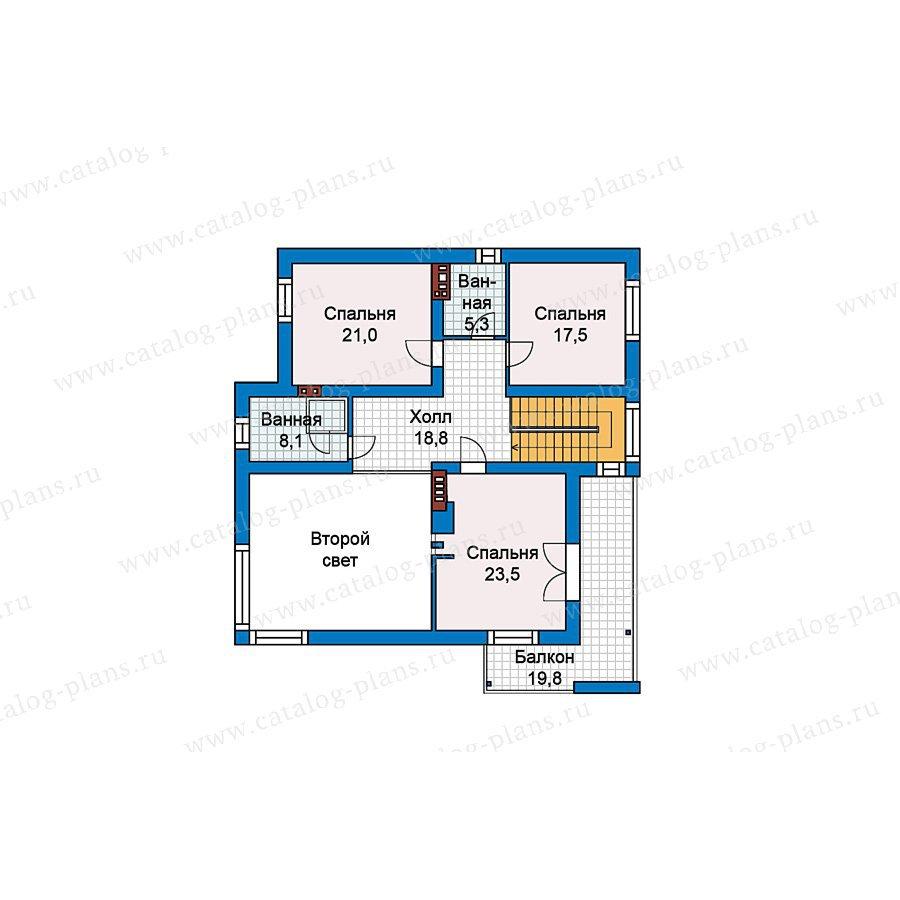План 2-этажа проекта 59-26
