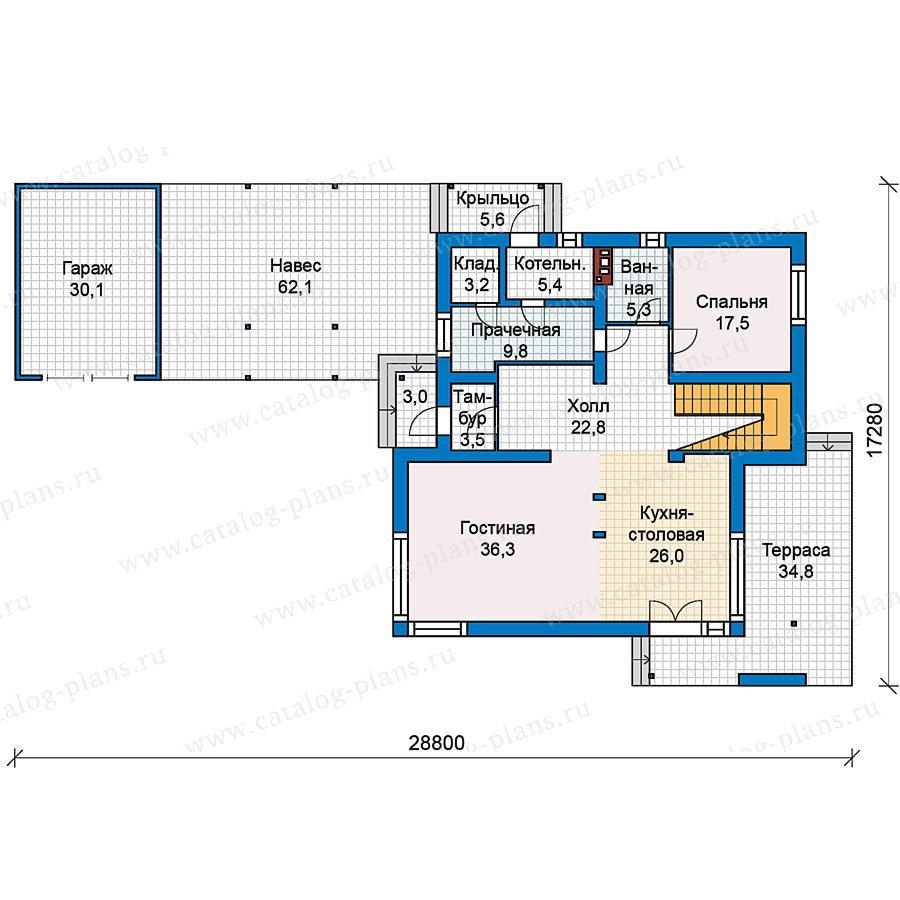 План 1-этажа проекта 59-26
