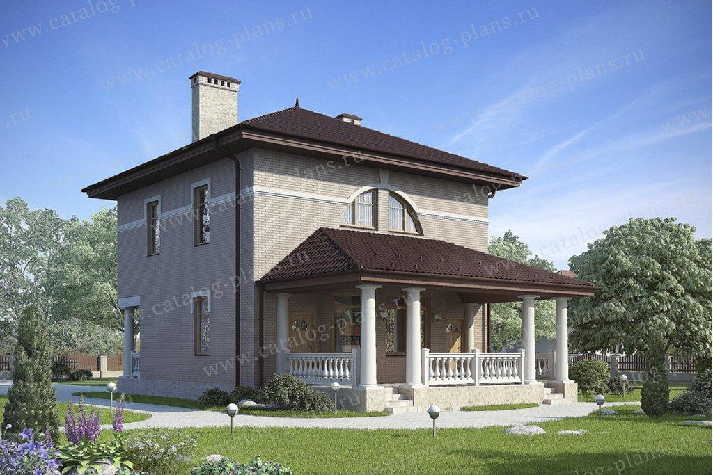 Проект жилой дом #59-28 материал - газобетон, стиль классический