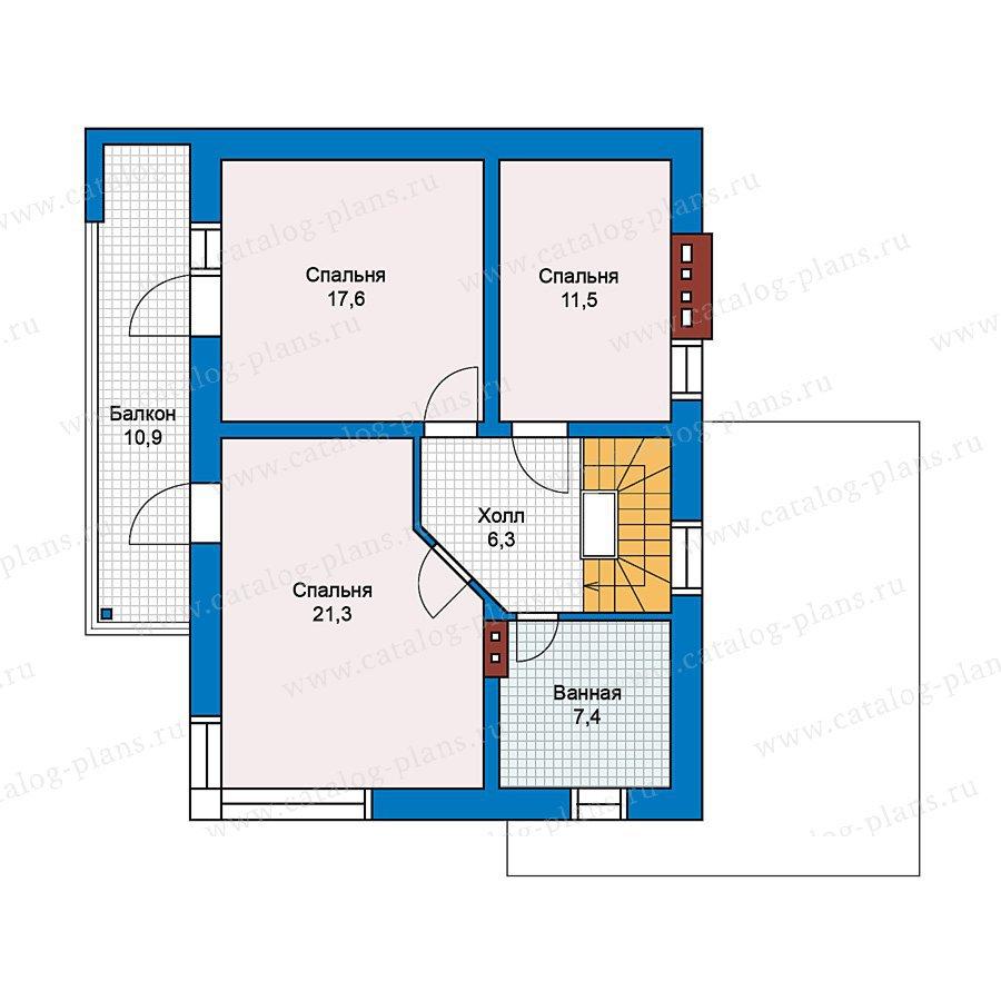 План 2-этажа проекта 59-23